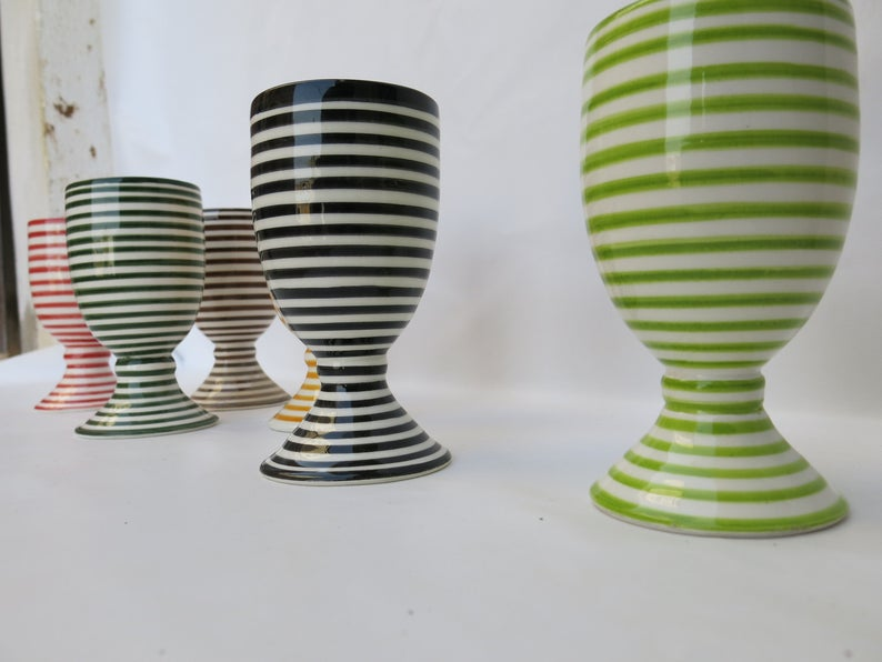 a set of 6 of hand-painted cups,100% handmade/perfect for serving juice or wine/