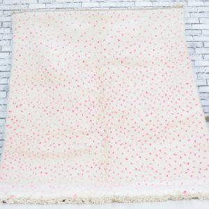 Beni ourain rug- Authentic Moroccan Rug- Aspro Rug- Custom Beni Ourain rug- Beni Rug- Large Moroccan Rug- White& pink Rug- Custom rug