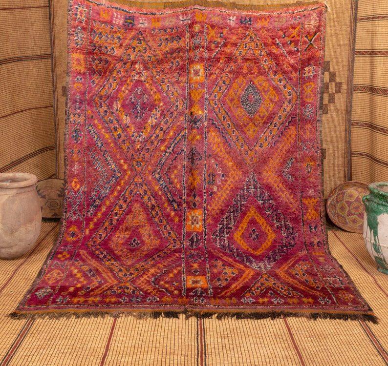 Beni mguild rug 9x7 ft - berber teppich - morocco wool rug #561