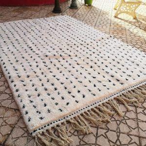 Moroccan berber white rug Beni Ourain rug handmade Moroccan Rug 100% wool rug
