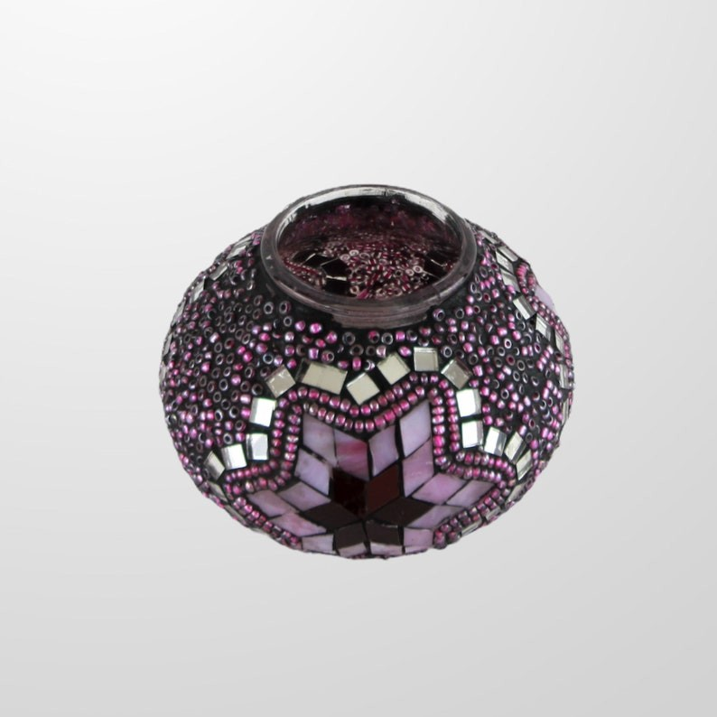 US Seller, Table lamp, Mosaic lamp, Glass lamp, Turkish, Moroccan, Lighting, Best Gift, Home Decoration, Table Top, Violet