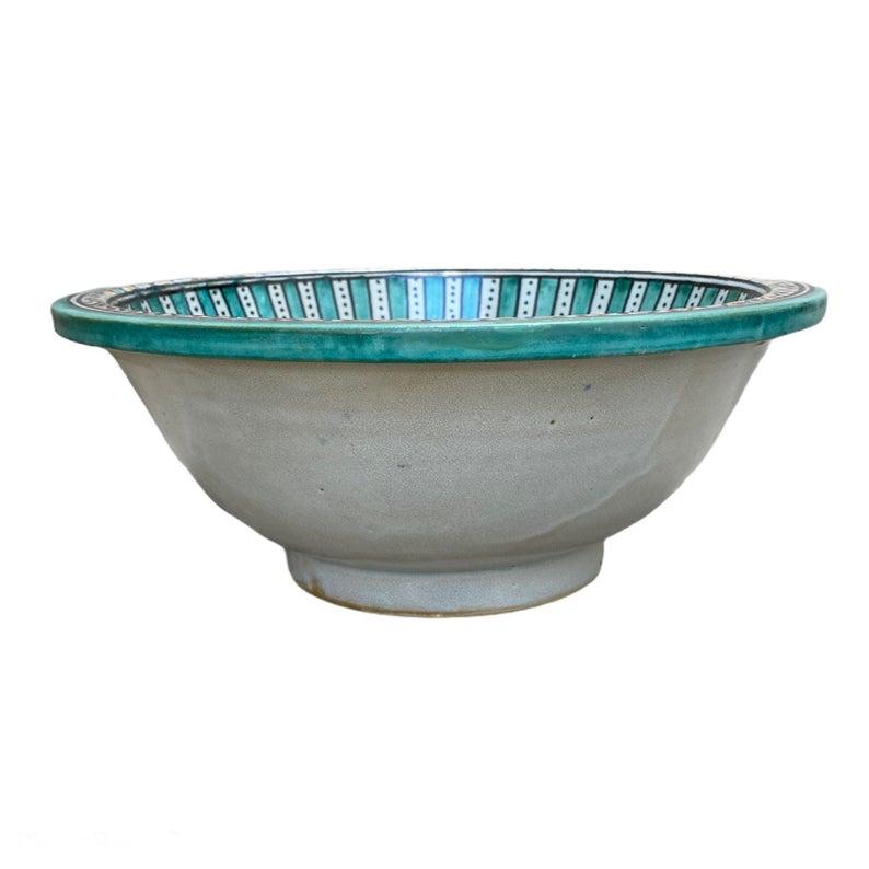 Handmade and hand-painted Moroccan ceramic sink/lavabo. Moroccan washbasin handmade.
