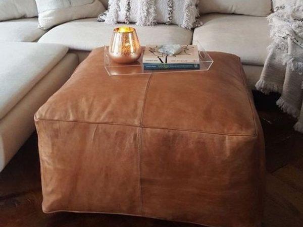Amazing square Ottoman, Moroccan pouf, ottoman pouf, Moroccan leather, leather pouf, Living room pouf, moroccan pouf