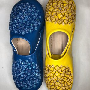 Handmade genuine Moroccan leather slippers