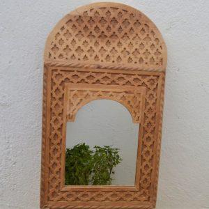 Art Deco and Vintage Handmade Moroccan Hand Carved Wooden Wall Mirror ,Mirror Wall Decor,cedar Wood ,frame mirror Decorative Mirror