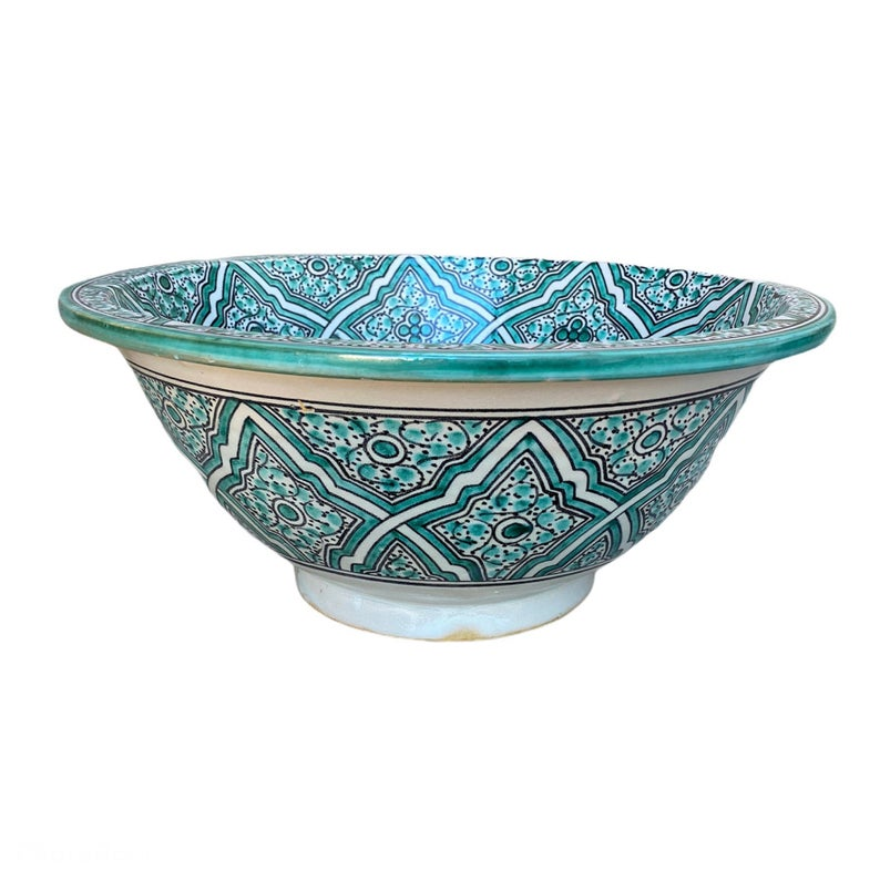 Handmade and hand painted Moroccan ceramic sink / sink. Moroccan washbasin handmade.ceramics sink