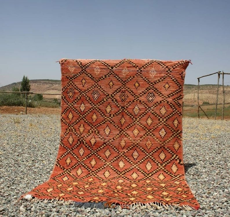 Antique Beni Mguild vintage moroccan Berber Moroccan rug,berber rug, moroccan carpet , Unique rug , azilal, beni ourain rug
