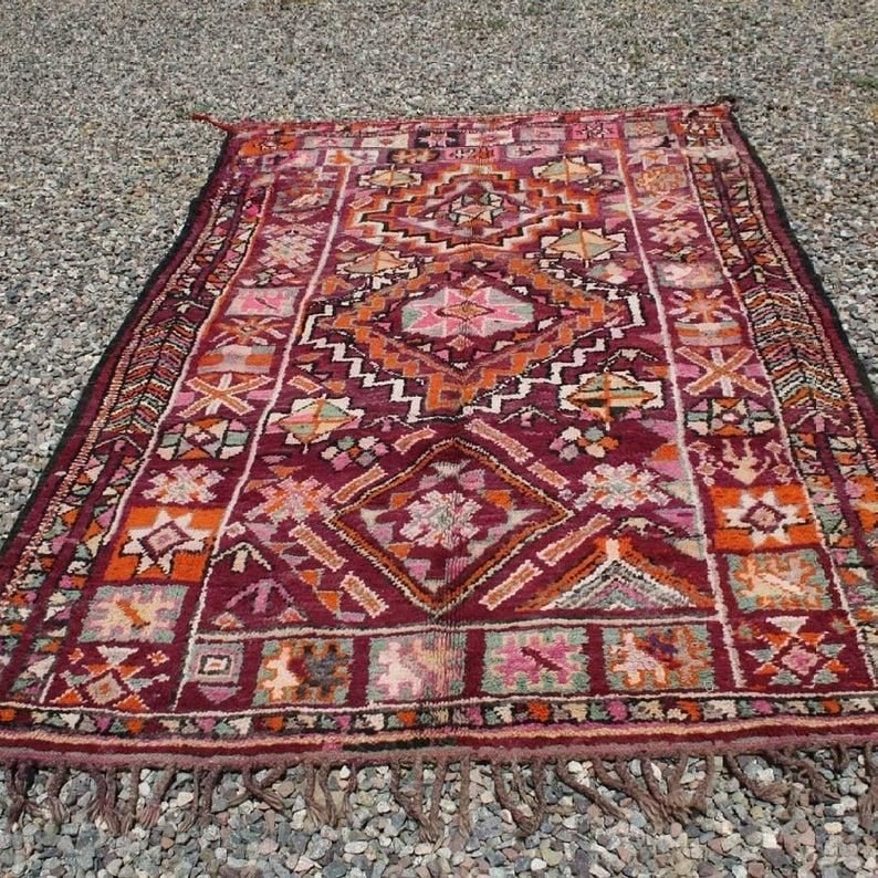 Beni Mguild rug, vintage moroccan rug, Berber Moroccan rug,berber rug, moroccan carpet , Antique rug ,ancient Beni Mguild handmade