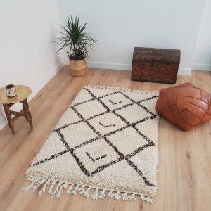 Moroccan Beni Ourain Rug 3x5 ft, Authentic Handmade Berber Carpet, Handwoven Moroccan Wool Rug, Tribal Bohemian Area Rug