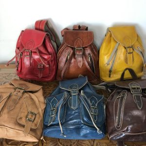 Genuine Moroccan leather backpack