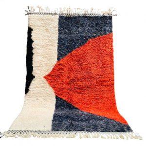 Beni Ourain Rug, Moroccan Rug, Berber Rug, Wool Rug, Vintage Rug, Handmade Rug, Azilal Rug, moroccan carpet, hand woven rug, beni rug, tapis