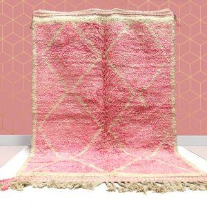 kechart - Custom Pink Moroccan Beni Ourain rug,Hallway Moroccan rug, Beni Ourain rug,BeniOurain, berber rugs, Moroccan rug, Moroccan rug