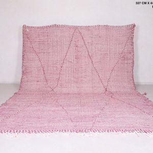 Moroccan Pink rug 10.7 FT X 14.6 FT - Vintage berber kilim rug - Large rug - Wool rug - Floor rug