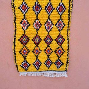 Moroccan Boucherouite Rug 4.7x3.1 Feet - BERBER Rug - Azilal Boucherouite - handmade Rug - kilim rug - decor home -Woven carpet - handmade