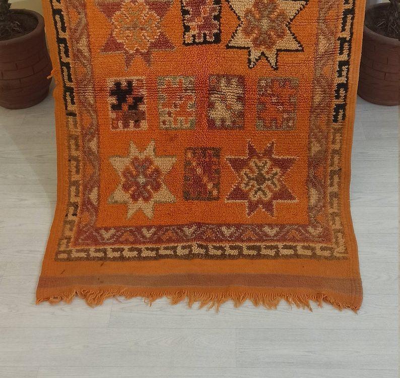 Blue Cotton Rug,Moroccan Kilim Rug,Tassel Mat Rug, Blush Pink Boho Style Rug, Tribal Floor Rug, Area Mat, Moroccan Carpet