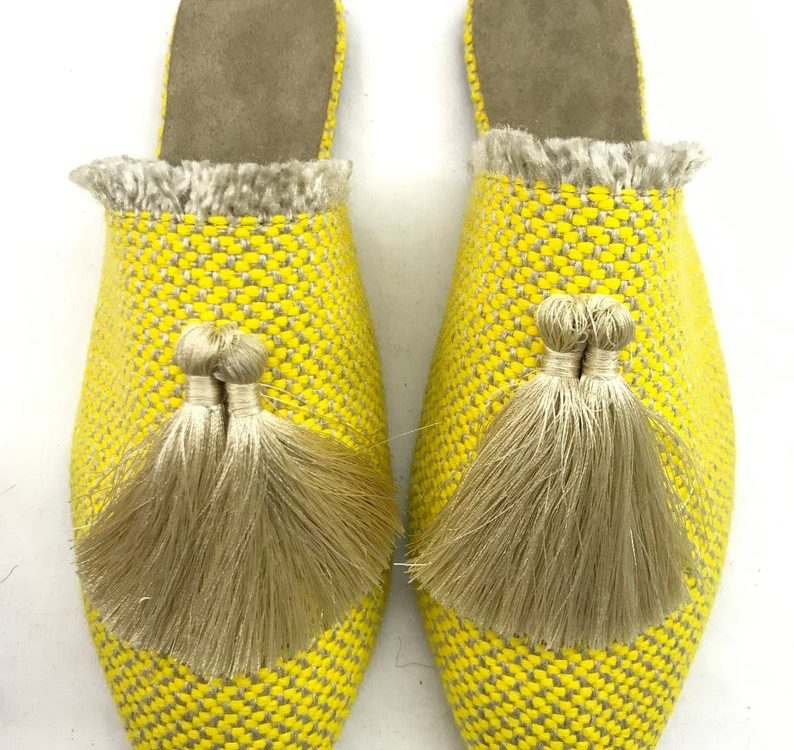 Suede leather Moroccan Babouche    Premium Handmade Babouches    Morocco Shoes    Moroccan Babouche    Moroccan bohemian slippers Slippers