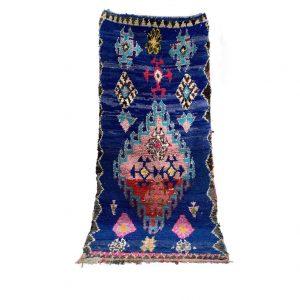 Boucherouite rug, Vintage moroccan rug, Berber rug, Moroccan rag rug, Bohemian carpet