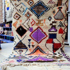 VINTAGE-HANDMADE,Boucherouite Rug,Moroccan Rug,Azilal Rug,Vintage Boucherouite rug, berber boucherouite rug, boho rug,kilim boucherouite rug