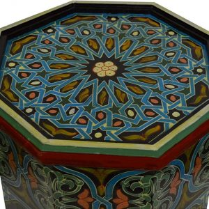 Hand-painted Moroccan side table, wooden table of the Moroccan Moucharabieh, Moroccan table, vintage wooden table , Arabic table