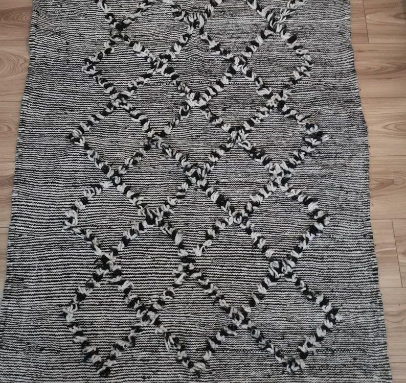 Woollen Moroccan Kilim Rug Handmade New