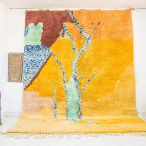 yellow Berber Moroccan Vintage rug, Marokkanischer teppich,Morocco rag Rug , Moroccan carpet,authentic vintage rug morocco rug