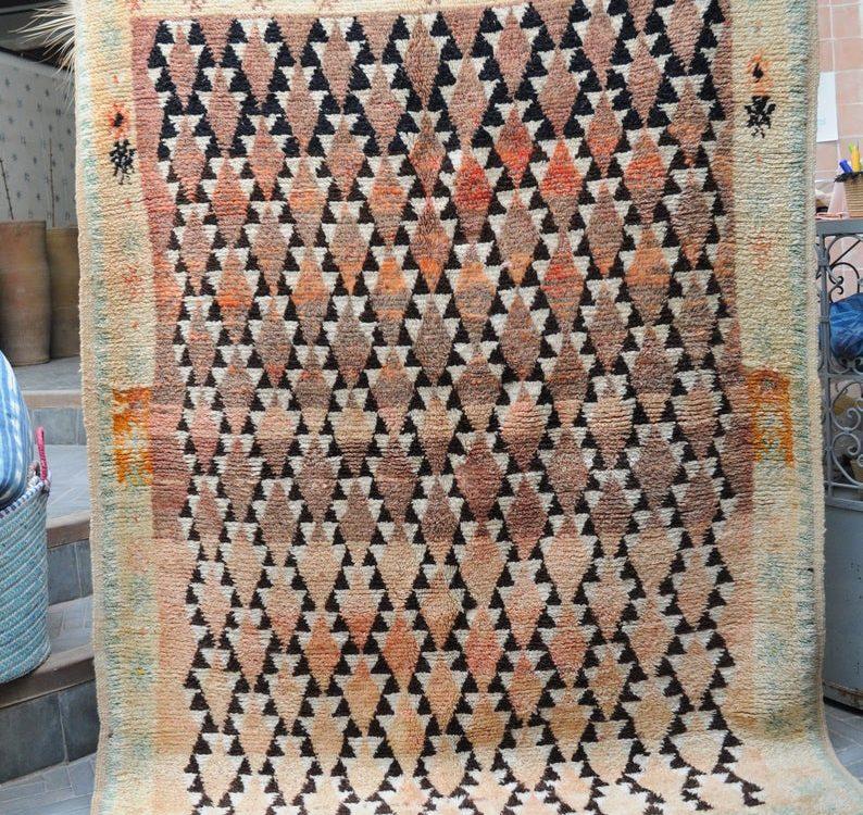 Beni mguild rug,Vintage Beni mguild rug ,Moroccan area rug, tapis berbere ,berber rug,Vintage Moroccan Rug 207x150cm mjt461
