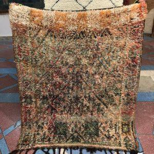 Bleu Beni mguild rug from Beni Mguild region, Moroccan carpet, wool rug, tapis marocain, soft rug, Natural green Moroccan rug, soft rug
