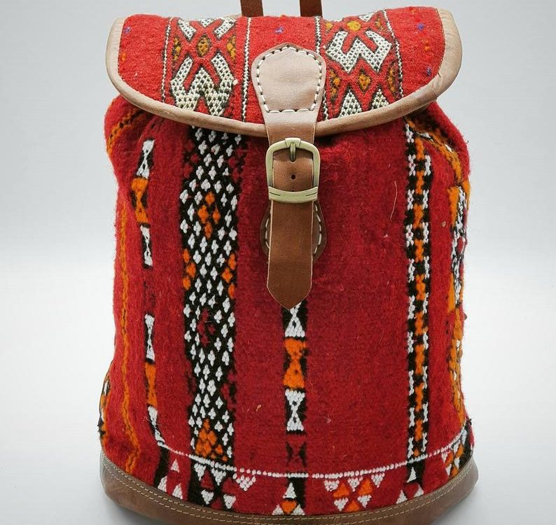 Red Moroccan Backpack