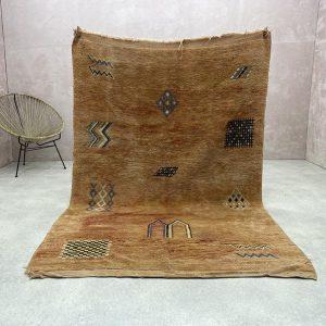 Moroccan Vintage Carpet - Moroccan Old Rugs 7x5, Berber Vintage Rugs, Very Antique Vintage Rug, Ethnic Boho Rug, Moroccan Beni Mguild Rug