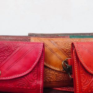 moroccan leather coin purse