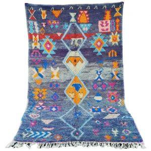 Boucherouite Rug Berber | Boucherouite Rug Vintage | Boucherouite Area Rug