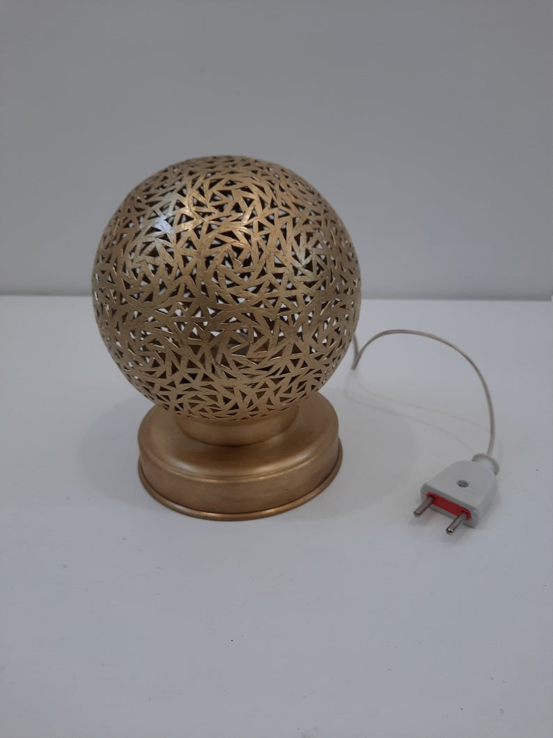 Moroccan Golden Table Lamps