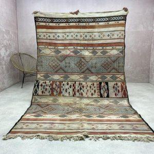 Beni Mguild Rug - Authentic Vintage Moroccan Rug, Beni Mguild Vintage Rug, Tapis Marocain Beni Mguild, Vintage Beni Mguild, Old Carpets 9x5