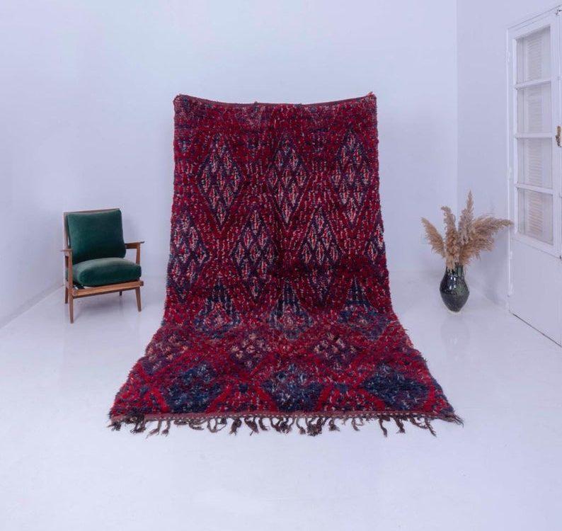 Vintage Beni Mguild Rug / Moroccan RUG / Berber Carpet / Area Wool Rug / Authentic Rug / Boho Rug / Tapis Marocain