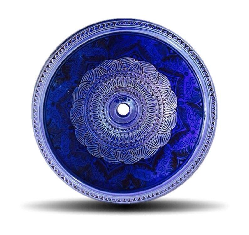 Moroccan Sink Washbasin Ceramic Handmade in Morocco - Dark Blue