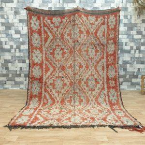 5.6″x8.2″ Morocco Vintage Beni Mguild, Moroccan Beni Mguild Rug, Vintage Beni Mguild Rug, Moroccan Vintage Carpet, Morocco Rug. AJV088