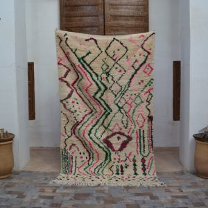 Moroccan traditional berber Azilal rugs wool rug handmade