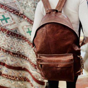 Large Handmade Leather Backpack, Leather Rucksack, Laptop Minimalist Backpack, Travel School Work Bag, Gift for Women & Men