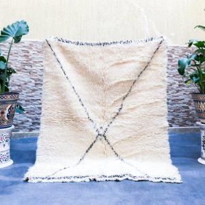 Small Moroccan rug 4x5, Handmade Scandinavian rug, Beni Ourain rug for interior lovers – 115x140 Cm