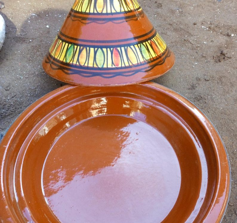 Moroccan Tagine 100% ceramic, plats tajine ceramic, tajine marocain, Big Tajine, Ceramic Tagine, tagine for cooking,