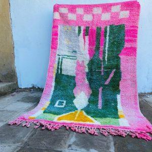 Berber Symbols Rug , Handmade Boujad Rug, Moroccan Rug, Authentic Wool, Abstract Moroccan Rug, Artistic carpet, Bohemian Rug, Tapis Marocain
