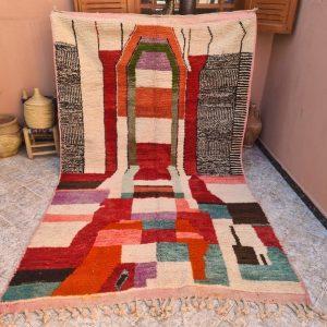 Vintage berber Boujad Rug -Area Rug - Moroccan rug - Vintage Rug - Berber Carpet - Handmade Rug - Berber Rug - Tribal Rug