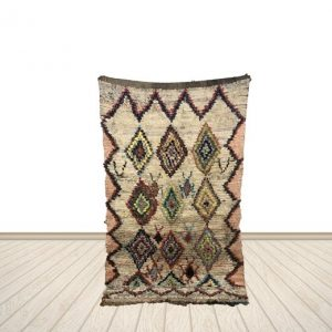 white Boucherouite rug 4x6 ft, Vintage rug, Woven berber rug, Floor rugs.