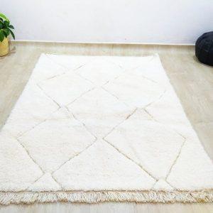 Beni ourain rug 7.5 x 4.9 Moroccan rug Beni Ourain carpet, Soft thick wool handmade berber rug