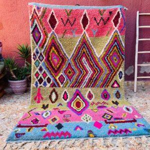 Vintage Moroccan Boujad Rug, Azilal rug, Authentic Moroccan, Handmade Old Moroccan Rug, Fabulous Moroccan rug, Berber carpet, Bohemian rug
