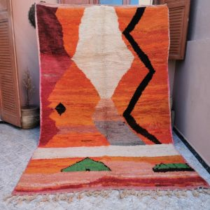 Custom Fabulous Boujad Rug, Authentic Moroccan Rug, Azilal rug, Abstract Multicolored Carpet, Handmade Moroccan Rug, Bohemian rug