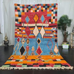 Vibrant Moroccan rug , Moroccan Boujad Rug, Azilal Multicolored Rug, Authentic Moroccan, Handmade Moroccan Rug,Berber carpet, Bohemian rug