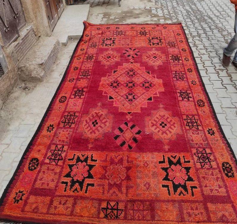 Beni mguild rug from Beni Mguild region, Moroccan carpet, wool rug, tapis marocain, soft rug, Natural green Moroccan rug, soft rug