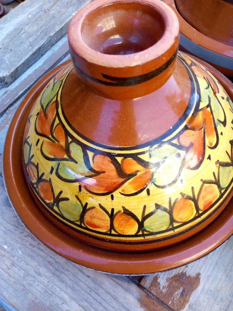 DHL shipping ,Moroccan Tagine 100% ceramic, plats tajine ceramic, tajine marocain, tagine for cooking, For : 2 people