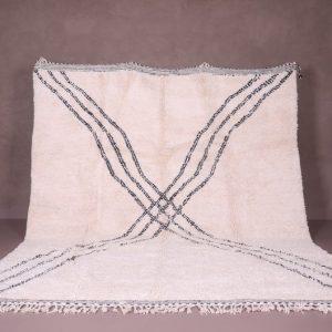 Beni ourain rug - Moroccan rug - Solid rug - Cream plain rug - Solid rug - Moroccan plain rug - Free shipping - Handmade rug